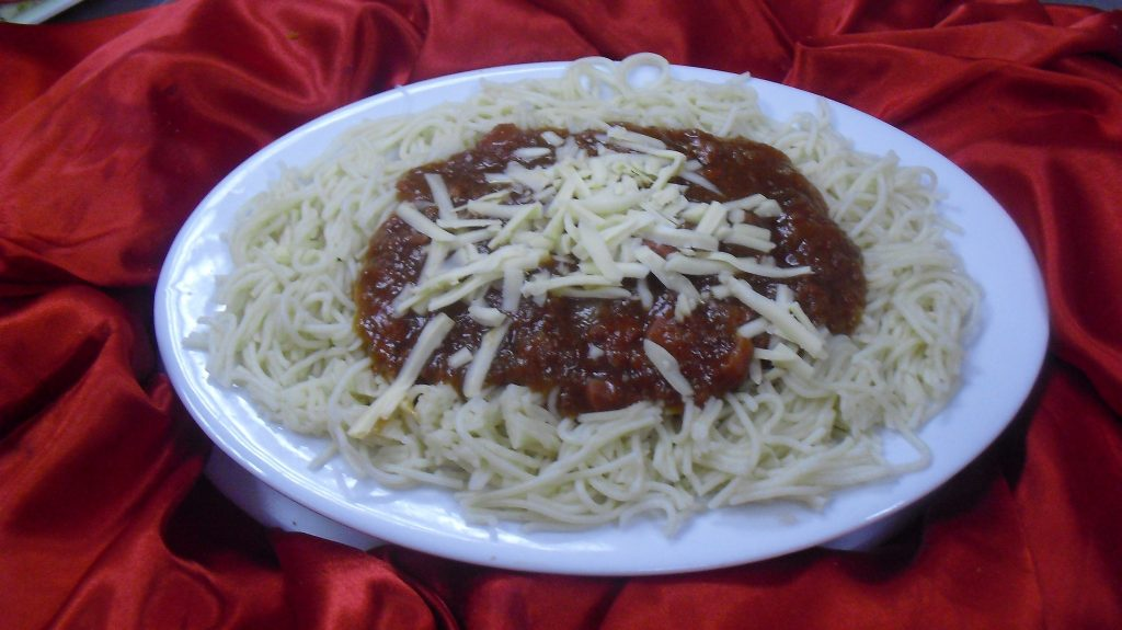 Beef or Chicken Spaghetti