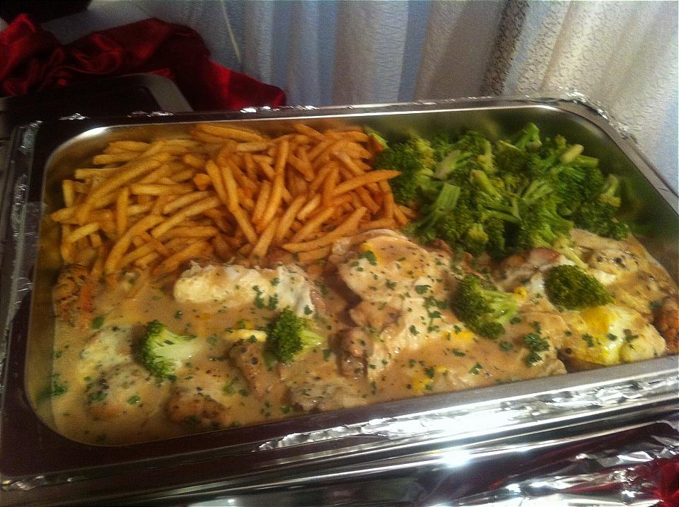 American Chicken Steak with Fries & Broccoli