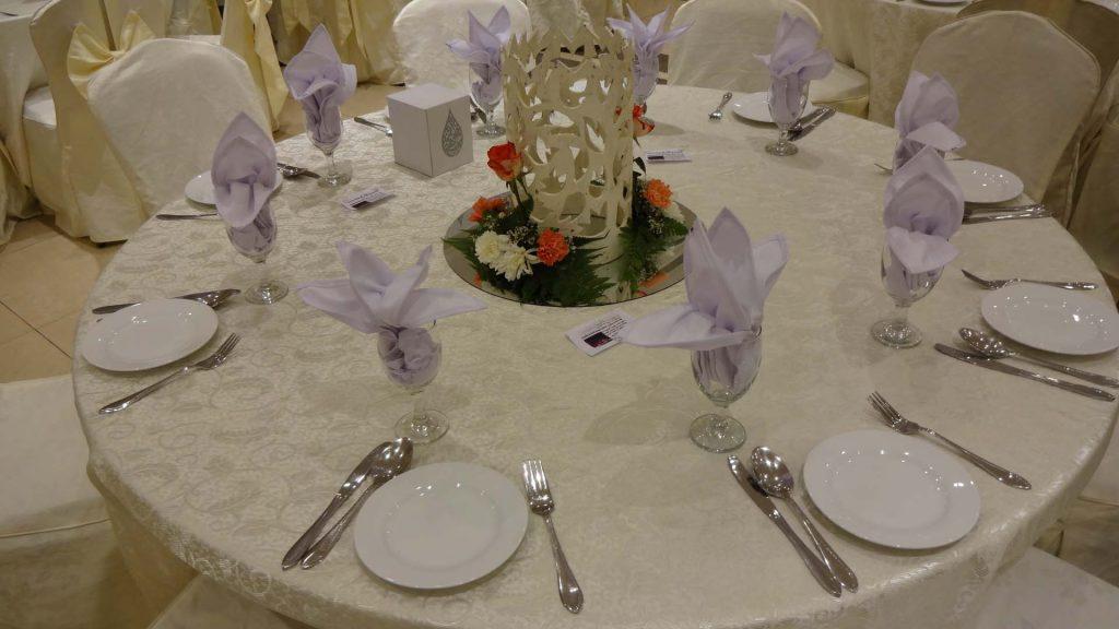 Buffet Setup for Wedding