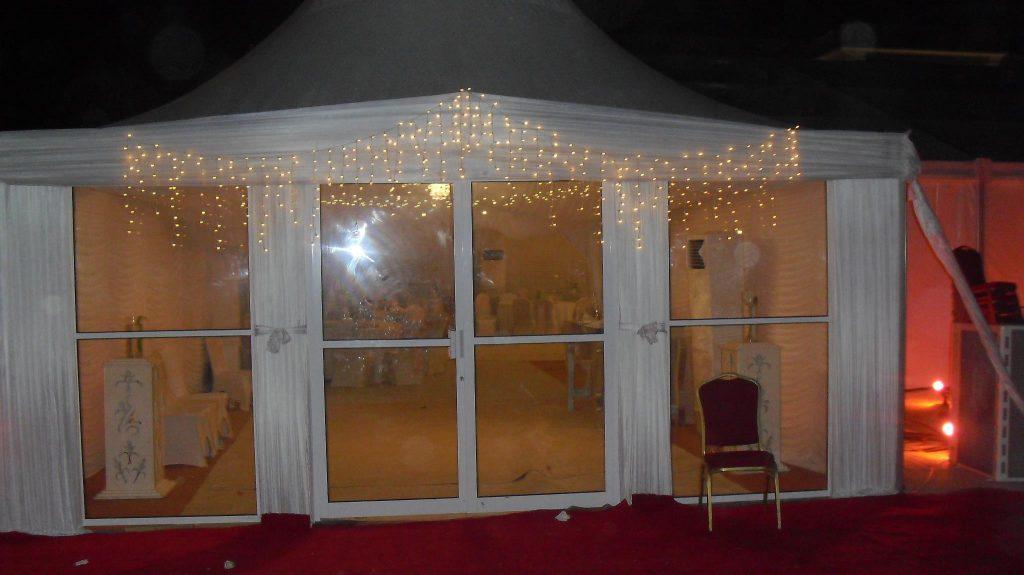 Lighting Arrangement for Tents