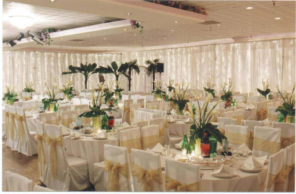 Tent with complete setup for a VIP wedding event