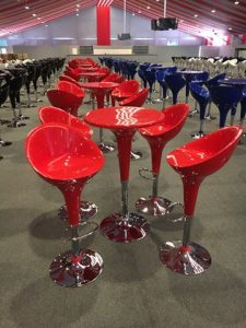 Bar Table & Chair (Various Colours Available)