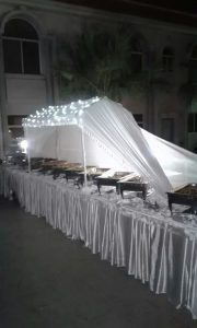 Buffet Covers, Lighting, Chafing Dish, Lining etc. Available