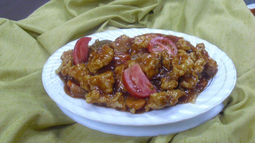 حلوى فلامنجو الخاصة مع الدجاج الحامض