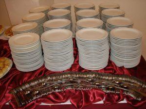 Plates, Spoons, Forks, Knives etc