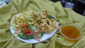 Special Camaron with homemade sweet and chilly sauce