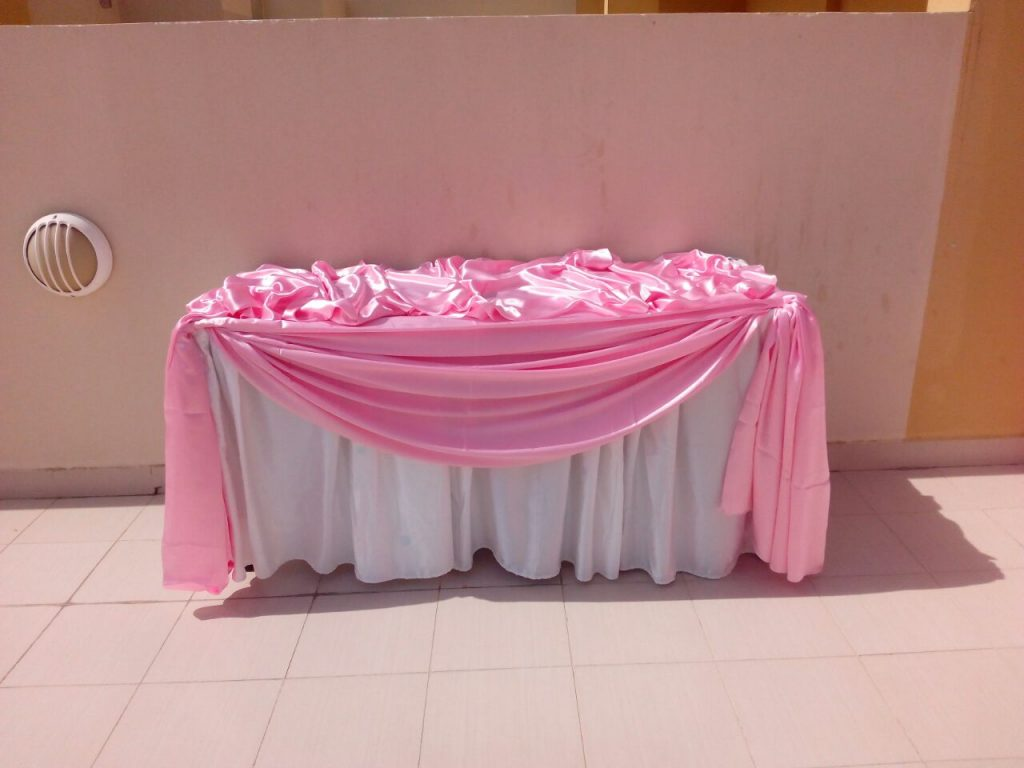 Buffet Setup with various colours and designs available