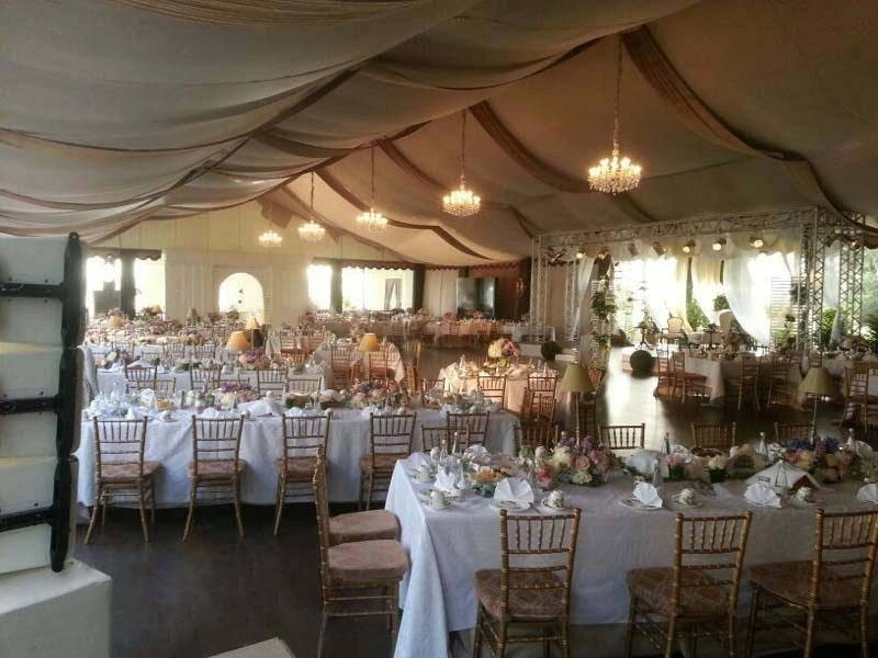 Tent for a VIP Wedding Party