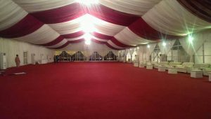 Various Colours for Tent Lining and Carpets available