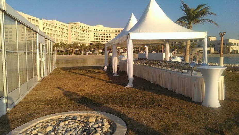 Buffet Setup with Tent Canopy