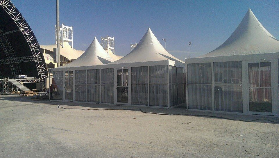 Pagoda Tent with glass walls